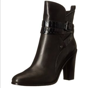 Donald J. Pliner black leather ankle boot